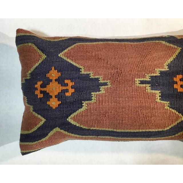 Textile 1960s Mediterranean Kazak Cotton Pillows - a Pair For Sale - Image 7 of 13