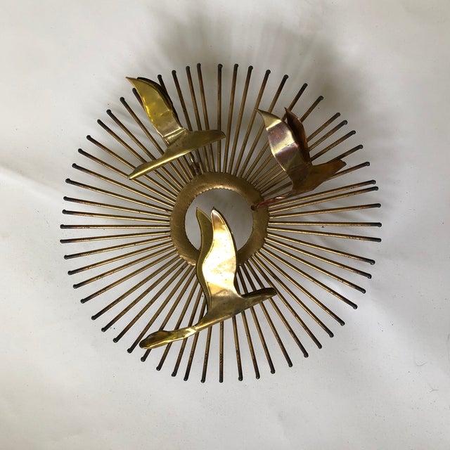 Mid Century Brass Sunburst Jere Style Sculpture For Sale - Image 10 of 10