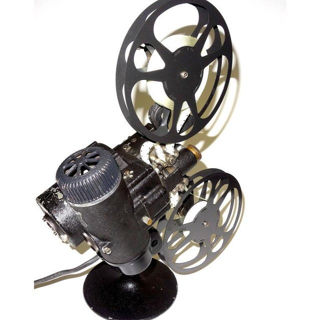 Black Rare First Model 16MM Cinema Movie Projector Circa 1923. Display As Sculpture. For Sale - Image 8 of 10