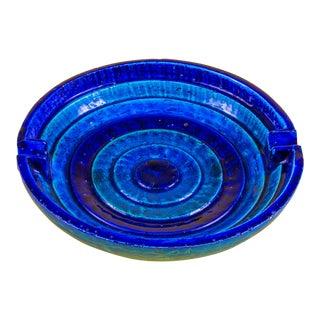 1960s Blue Bitossi Ceramic Ashtray For Sale