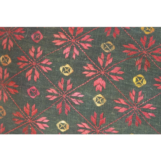 Red And Ebony Antique Swati Pillow - Image 2 of 3