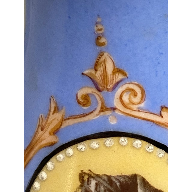 Mid 19th Century Mid 19th Century Victorian Old Paris Porcelain Portrait Vase From Irwin and Lane For Sale - Image 5 of 8