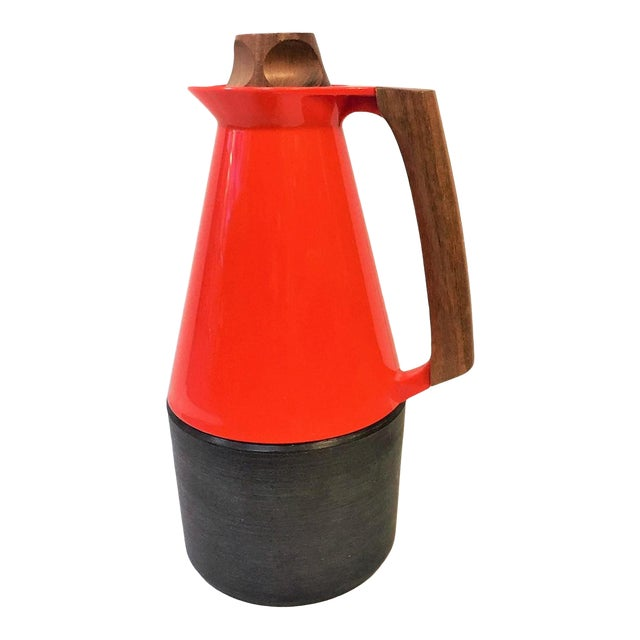 Mid-Century Modern Carafe With Teak Accents For Sale