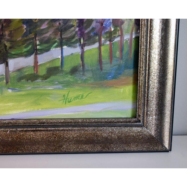 "Country Original ""Balducci Vineyards"" Plein Air Oil Painting For Sale - Image 3 of 5"