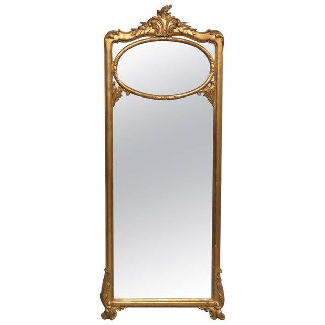 Gold Friedman Brothers Victorian Style Hall Mirror For Sale - Image 8 of 8
