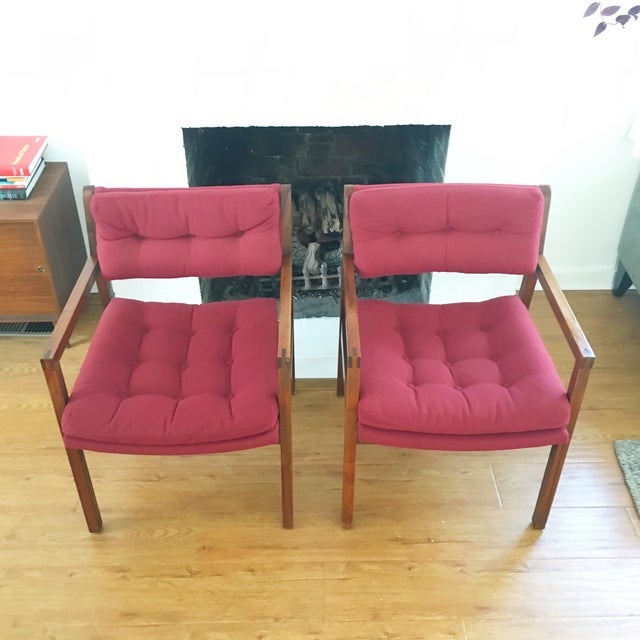 Mid-Century Side / Accent Chairs - Pair - Image 3 of 11