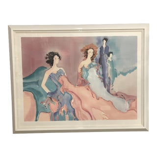 "Original Signed Lithograph ""Misty Rose"" by Jane Bazinet For Sale"