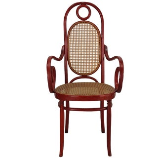 Model 17 Bentwood High Back Armchair by Michael Thonet For Sale