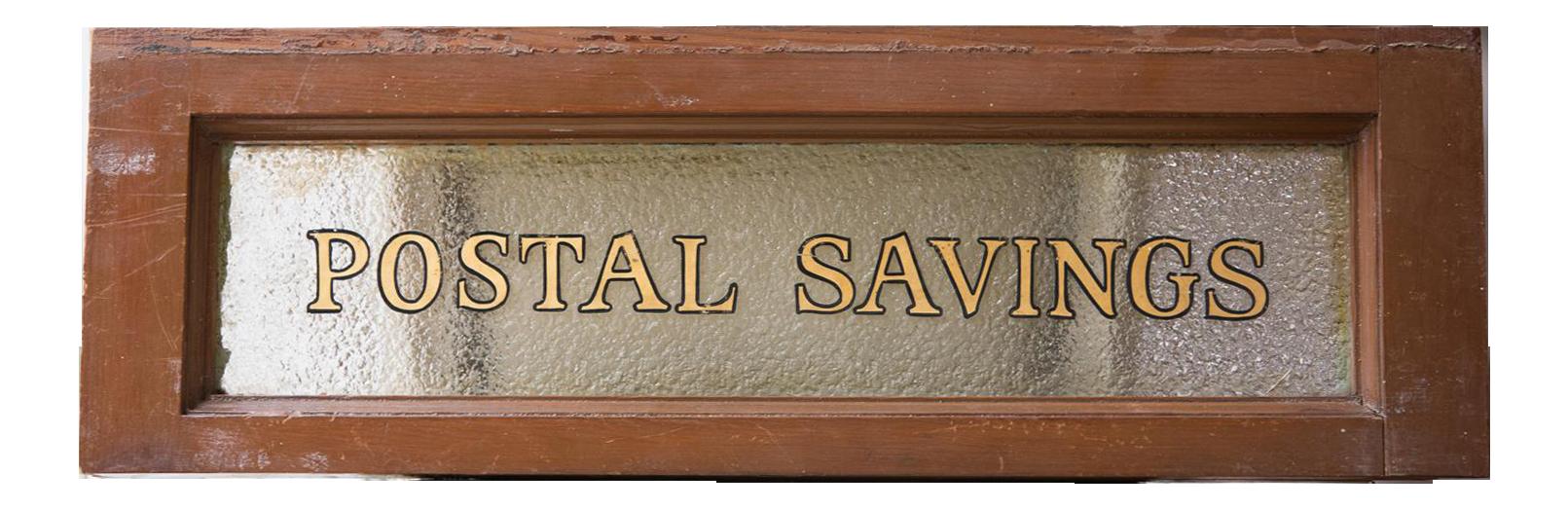 Vintage United States Post Office Glass U0026 Wood Sign
