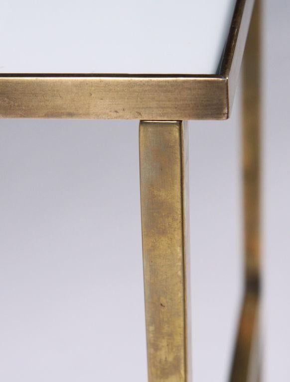 Harvey Probber Brass Frame U0026 Vitrolite Top Telephone Table   Image 3 ...