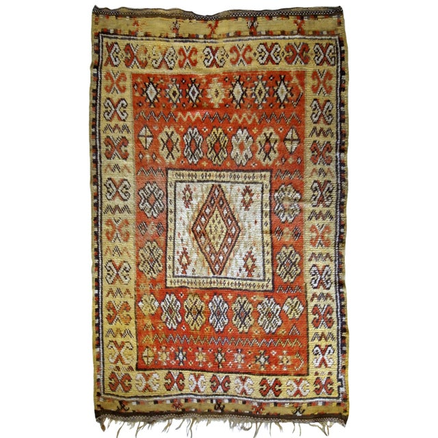 1900s Handmade Antique Moroccan Berber Rug 4' X 7.6' For Sale - Image 11 of 11