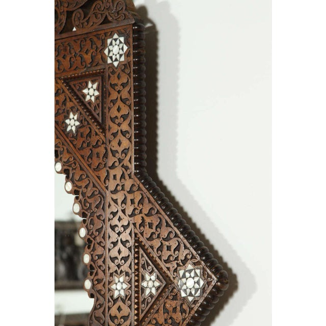 Antique 19th Century Syrian Damascus Mirror With Mother-Of-Pearl For Sale In Los Angeles - Image 6 of 9
