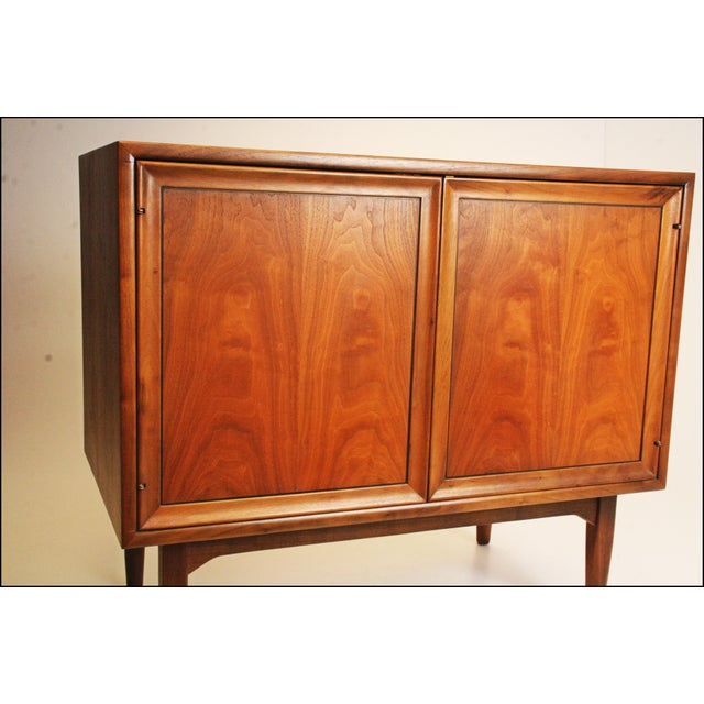 Mid-Century Modern Drexel Wood Record Cabinet - Image 4 of 11