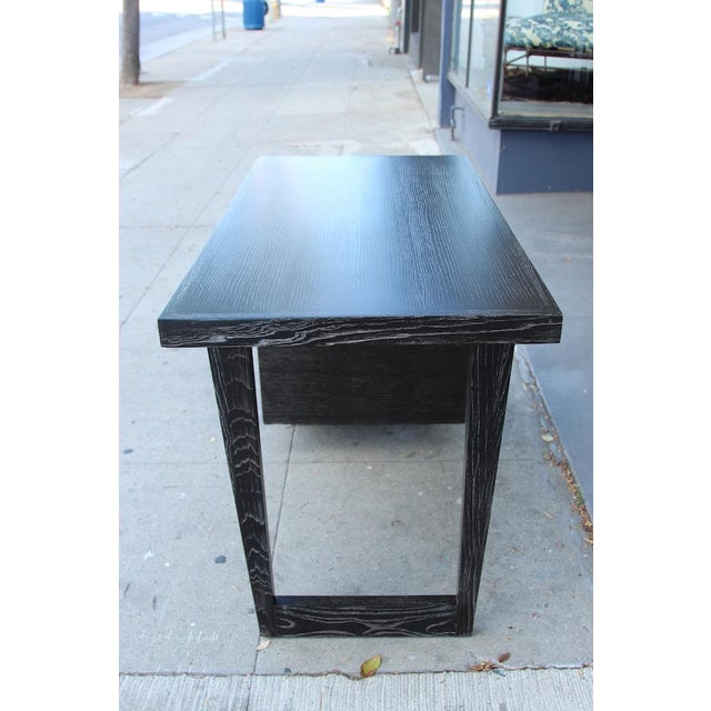 Morris of California Architectural Oak Desk For Sale In Los Angeles - Image 6 of 11