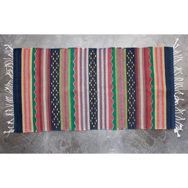 Mexican Pedal-Loom Striped Rug - 2′7″ × 4′10″ - Image 2 of 5