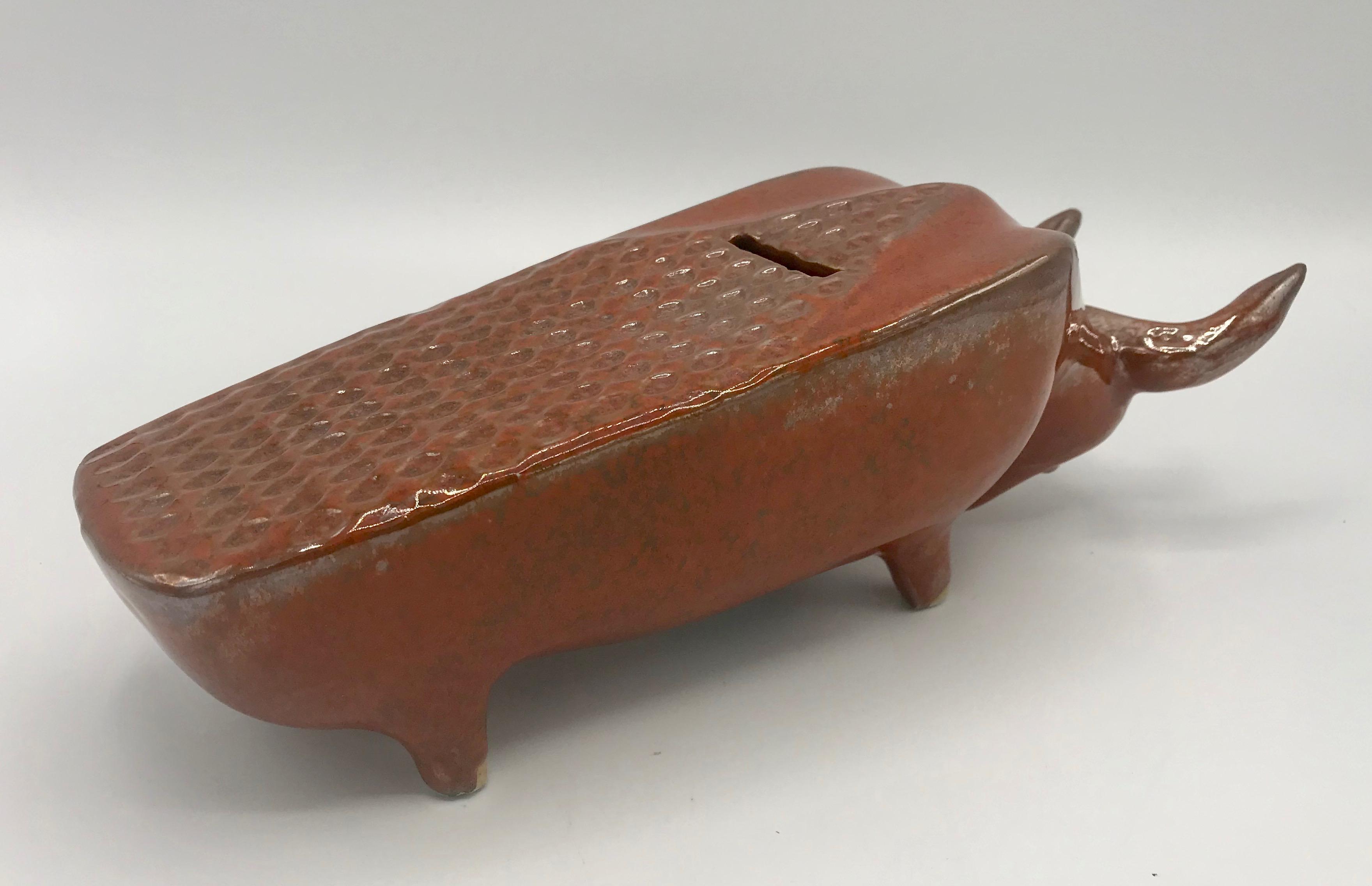 Bennington Pottery Piggy Bank David Gil and Yusuke Aida