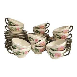 Vintage Franciscan 'Desert Rose' Partial Tea Service, 42 Pieces For Sale