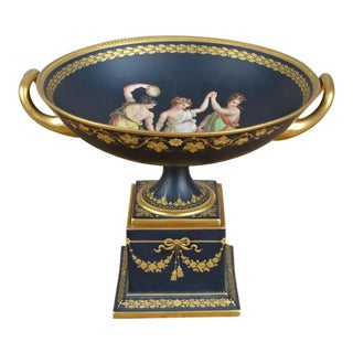 Fine German Porcelain Neoclassical Style Tazza For Sale