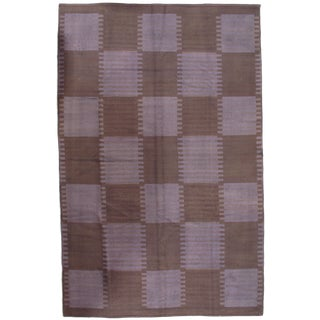Pasargad Ny Scandinavian Design New Zealand Overdyed Wool Rug - 6′ × 9′ For Sale
