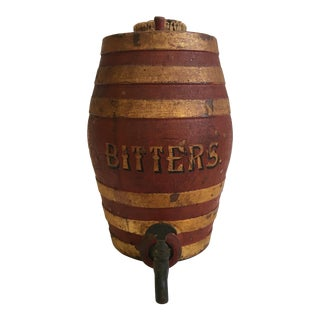 Large Antique Turn of the Century Bitters Dispenser Barware