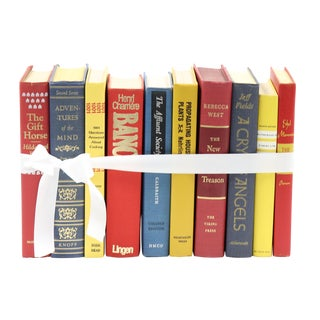 Mid-Century Primary Colors Book Bundle - Set of 10 For Sale