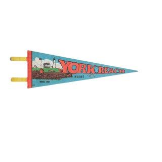 Vintage York Beach Maine Felt Flag Pennant