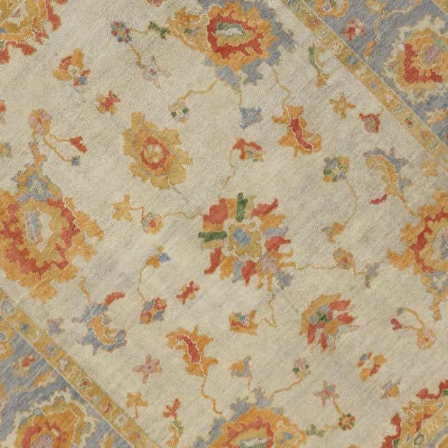 Contemporary Turkish Pastel Oushak Rug - 9′3″ × 12′3″ For Sale - Image 4 of 7