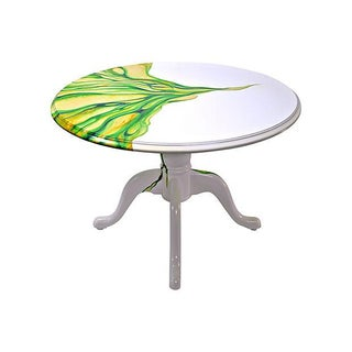 Artistic Hand Painted Round Table For Sale