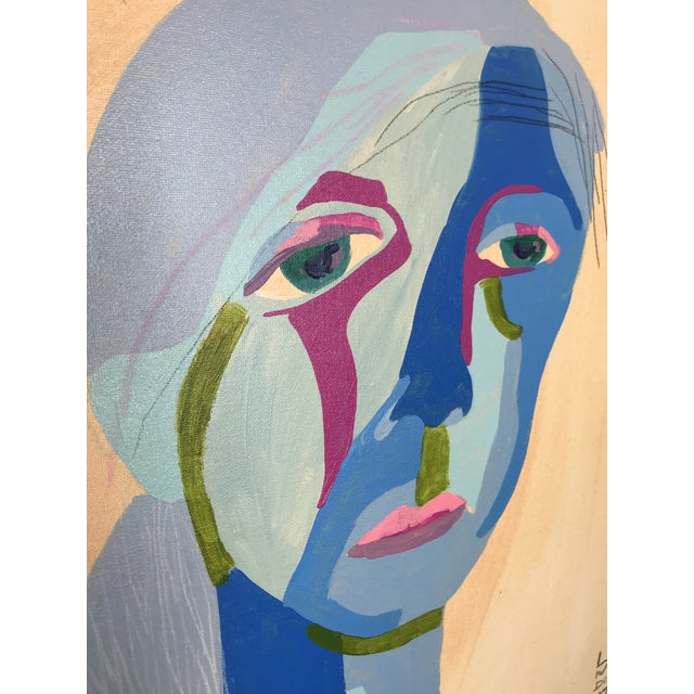 This abstract portrait is by contemporary artist Linda Ward of Detroit. This portrait is #143 out of a series of 500...