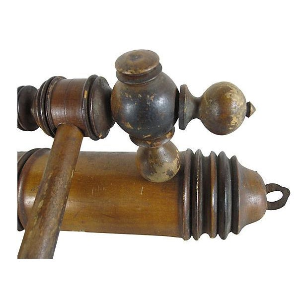 Antique French Swing-Arm Hand Towel Rack - Image 4 of 7