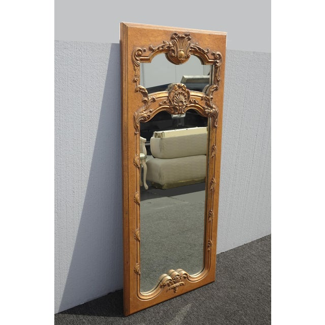 1950s Vintage French Provincial Gold Wall Mantle Mirror For Sale - Image 4 of 13