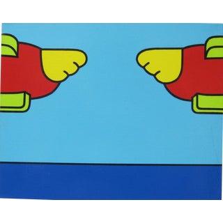 Modern Lichtenstein Style Pop Art Precisionist Painting Signed R. T. Pece For Sale