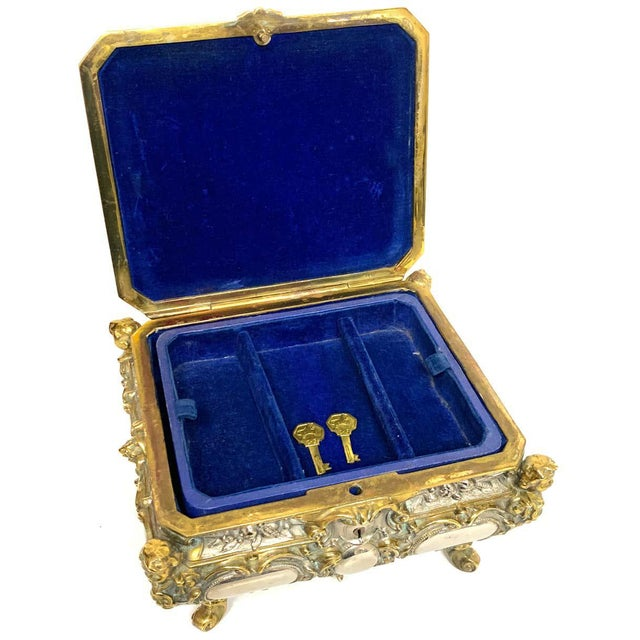 Silvered Bronze and Ormolu Jewelry/Table Box For Sale - Image 11 of 12