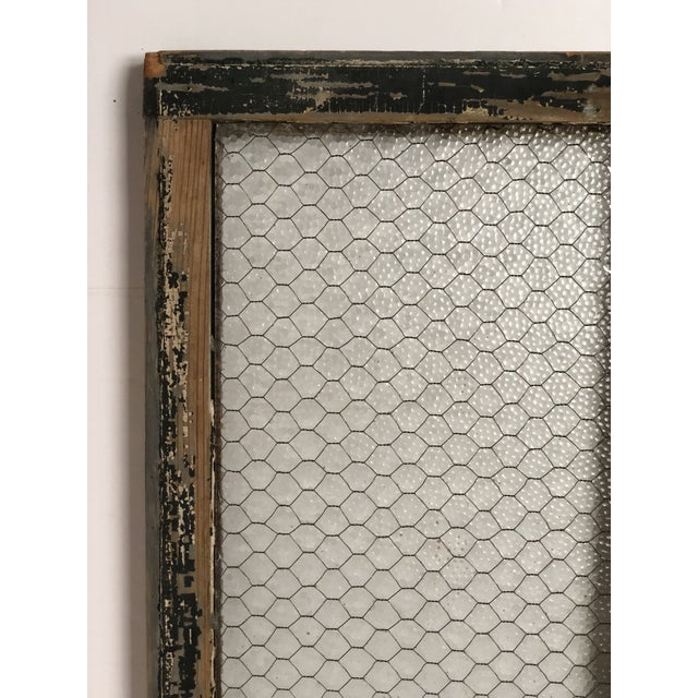 1890s Vintage Salvaged Police Station Chicken Wire Windows - a Pair For Sale - Image 12 of 13