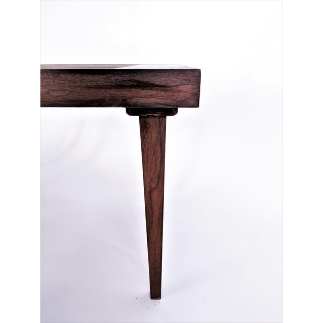 Mid Century Modern Wooden Slat Bench - Image 6 of 9