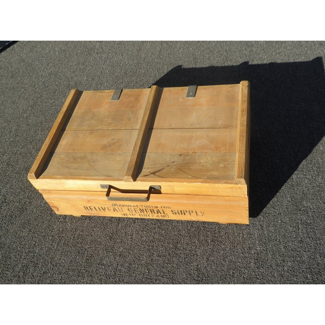 Vintage Industrial Tools Supplies Storage Box for Beliveau General Supply For Sale - Image 4 of 13