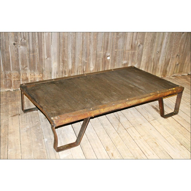 Vintage Industrial Iron & Wood Pallet Table Base - Image 9 of 11