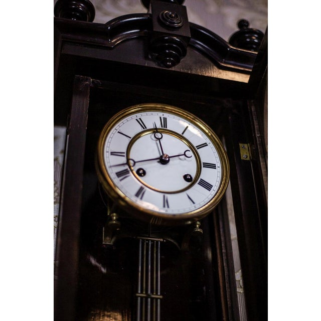 Late 19th Century 19th-Century Louis Philippe Wall Clock For Sale - Image 5 of 10