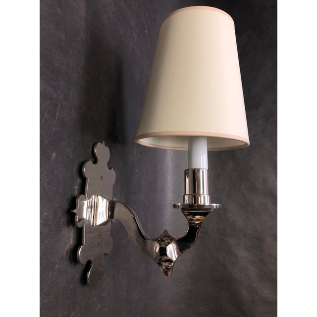 2010s Thomas O'Brien Leyland Wall Sconce and Shade for Visual Comfort Lighting For Sale - Image 5 of 5