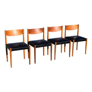 Frem Rojle by Poul Volther Danish Modern Teak Dining Chairs - Set of 4