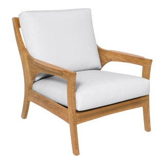 Giati Rinato Lounge Chair in Natural Canvas For Sale