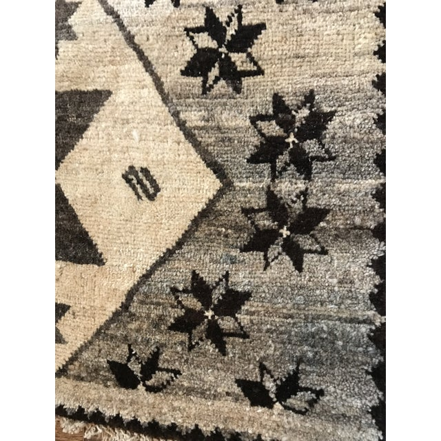 Cream, Brown + Gray Persian Rug For Sale - Image 4 of 7
