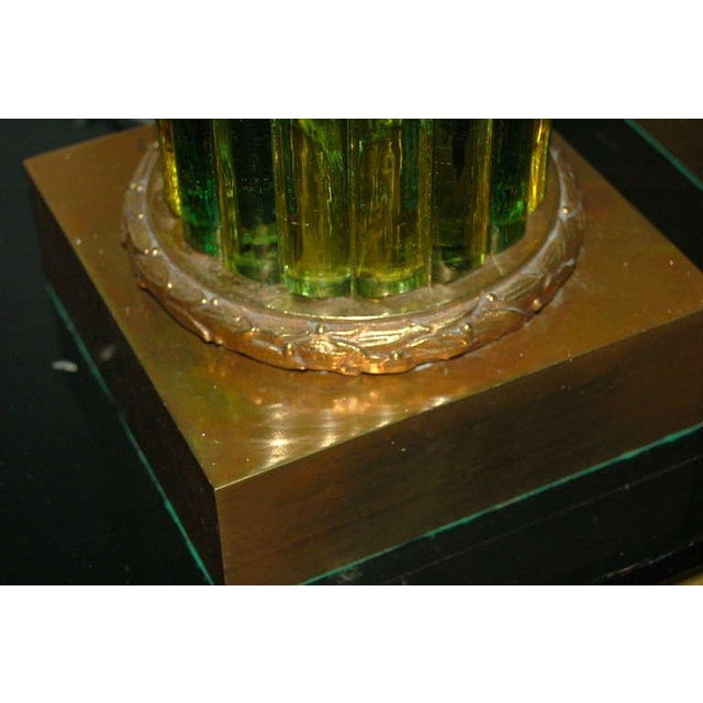 1960s Marbro Murano Glass Table Lamps Green For Sale - Image 5 of 10