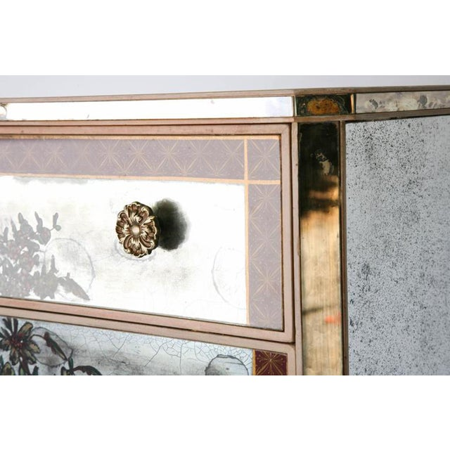 1940s Églomisé Mirrored Chest of Drawers - a Pair For Sale In West Palm - Image 6 of 13
