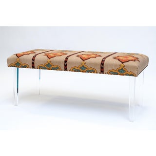 Fabric Upholstered Lucite Bench Preview