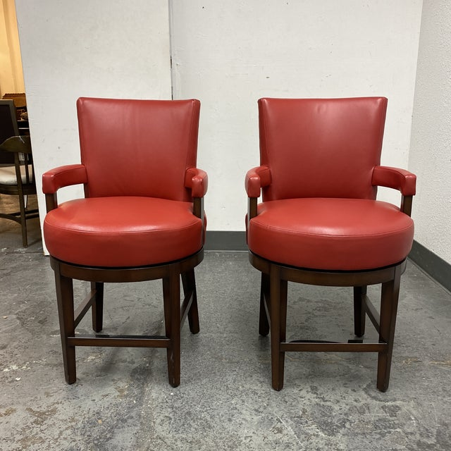Wheeler Design Group Counter Stools - a Pair For Sale - Image 12 of 12