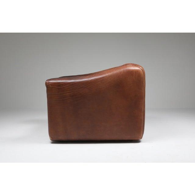 De Sede 1970s De Sede Ds 47 Brown Leather Armchair For Sale - Image 4 of 10