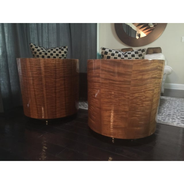 Pace Collection Swivel Tub Chairs - A Pair - Image 3 of 7