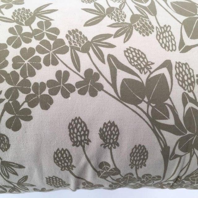 Original Folly Cove Designers Hand Block Printed Clover Pillow - Image 8 of 9