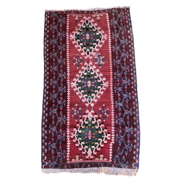 1960s Vintage Kilim Handmade Rug-2′8″ × 4′10″ For Sale - Image 11 of 11